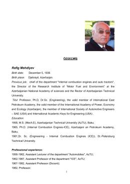 Rafig Mehdiyev - Gebze Yüksek Teknoloji Enstitüsü