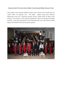 Süleyman Demirel Üniversitesi Ziraat Fakültesi Tarım Ekonomisi