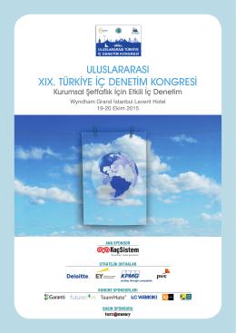 ULUSLARARASI XIX. TÜRKİYE İÇ DENETİM KONGRESİ