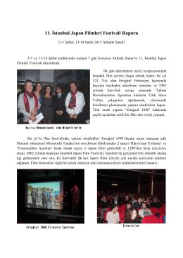 11. İstanbul Japon Filmleri Festivali Raporu
