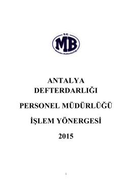 Personel Md. İşlem Yönergesi