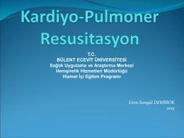 kardiyopulmoner resüsitasyon