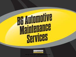 BG dizel egr & hava emiş servisi bilgi dosyası