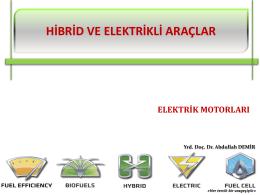 hıbrıd ve elektrıklı araclar - elektrık motorları_2015