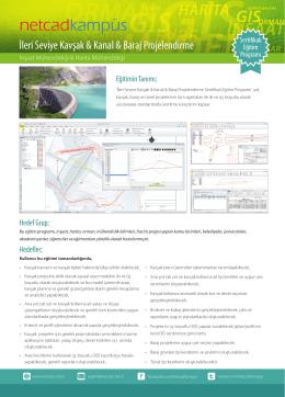 İleri Seviye Kavşak & Kanal & Baraj Projelendirme