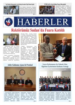 Rektörümüz Sudan`da Fuara Katıldı