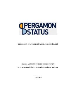 PERGAMON STATUS DIŞ TİCARET ANONİM ŞİRKETİ HALKA ARZ