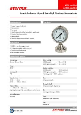 A300.xxx.RB4 A300G.xxx.RB4 Komple Paslanmaz Hijyenik Rakor