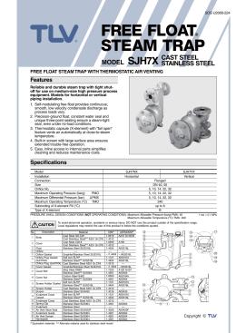 model sjh7x free float® steam trap