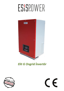 ELİT G String Inverter Katalogu (Mayıs 2015) :Download