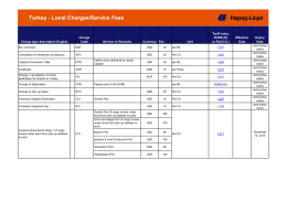 Turkey - Local Charges/Service Fees - Hapag