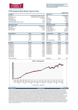 FTSE Istanbul Bono Borsa Yatırım Fonu
