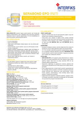 SERABOND EPO (R2T) - İnterfiks Yapı Kimyasalları
