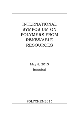 international symposium on polymers from renewable resources
