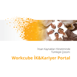 Workcube İK&Kariyer Portal
