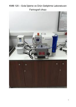 KMB 120 – Gıda İşleme ve Ürün Geliştirme Laboratuvarı Farinograf