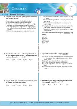 12. Sınıf Geometri Test 1 İndir