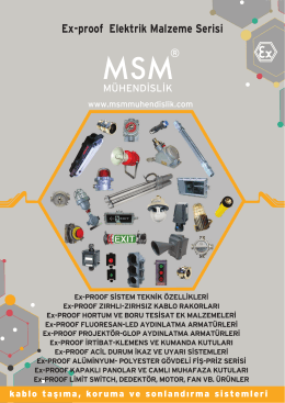 Ex-proof Elektrik Malzeme Serisi
