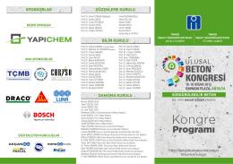 Kogre Programı - 9. ulusal beton kongresi