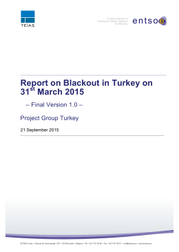 the Final report on the Blackout in Turkey 31st - entso-e