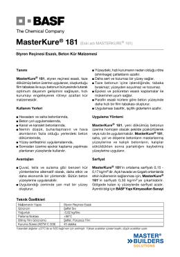 MasterKure® 181 (Eski adı MASTERKURE® 181
