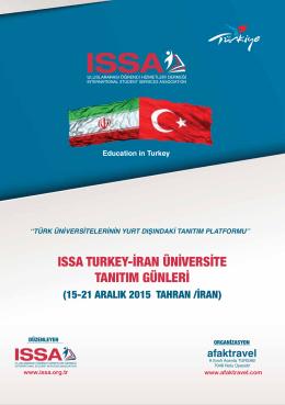 ıssa turkey-iran üniversite tanıtım günleri