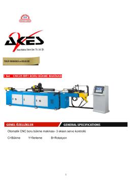 Otomatik CNC boru bükme makinası- 3 eksen servo