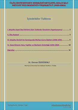 selçuklu devlet telâkkisinin teşekkülü (1038-1064)