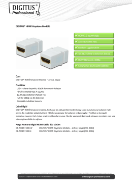 DIGITUS® HDMİ Keystone Modülü Özet Özellikler Ürün Bilgisi