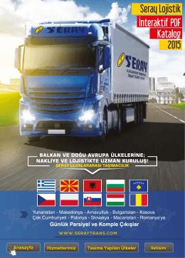 Seray Lojistik İnteraktif PDF Katalog 2015