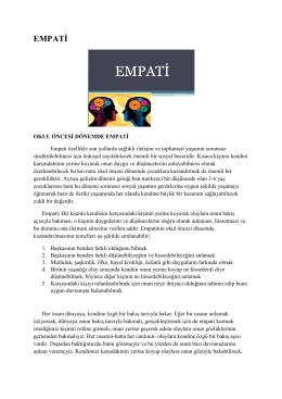 EMPATİ - 3 Eylül Anaokulu