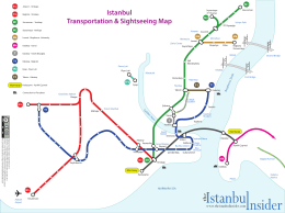 Istanbul Transportation & Sightseeing Map