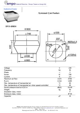 Systemair Çatı Fanları DVS 450E4