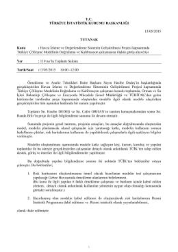Türkiye Çölleşme Modelinin Doğrulama ve Kalibrasyon Çalışması