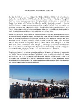 21 Şubat 2015, Uludağ Milli Parkı ve Cumalıkızık Arazi Çalışması