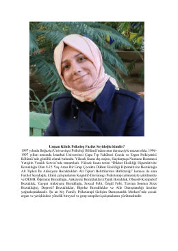 Uzman Klinik Psikolog Fazilet Seyidoğlu kimdir? 1997 yılında