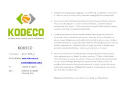 kodeco - Turkey Cleantech Open Accelerator