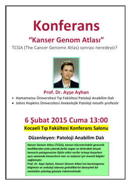 Kanser Genom Atlası - Kocaeli Üniversitesi Tıp Fakültesi