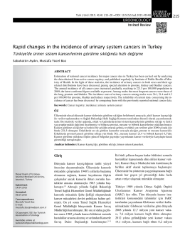 Tam Metin  - Turkish Journal of Urology