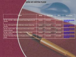 istanbul ekim ayı eğitim planı 2015