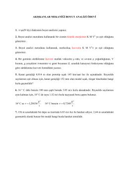 AKIŞKANLAR MEKANİĞİ BOYUT ANALİZİ ÖDEVİ 1. τ=μ(dV/dy