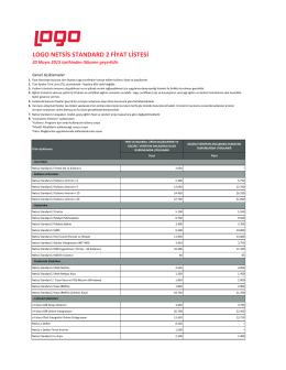 Netsis Standart fiyat listesi