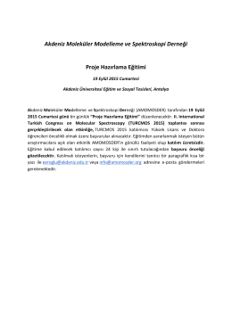 Akdeniz Moleküler Modelleme ve Spektroskopi