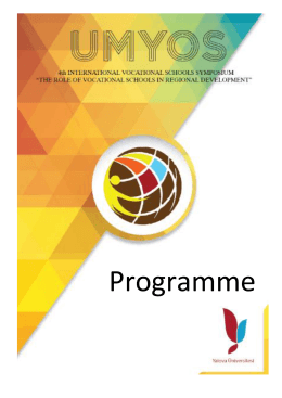 Main Programme