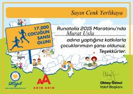 Sayın Cenk Yerlikaya Murat Uslu