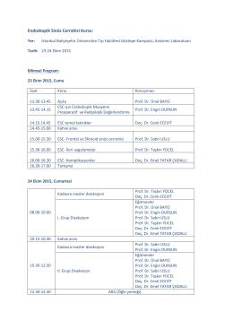 Endoskopik Sinüs Cerrahisi Kursu 23-24 Ekim 2015
