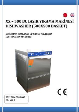 XX – 500 BULAŞIK YIKAMA MAKİNESİ