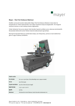 Mayer – Özel Viol Dolduran Makinesi Özel Viol