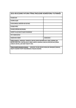 19 mart 2015 tarihli sgk itiraz komisyon raporu için tıklayınız