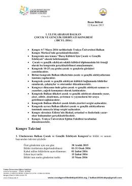 Basın Bülteni - Cocuk Genclik Edebiyati 2016